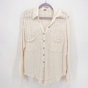 Free People Tops - Free People Beach Sheer Button Up Shirt